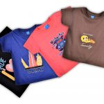 Lot de 04 T-shirt enfants (bleu, rose, marron, noir)